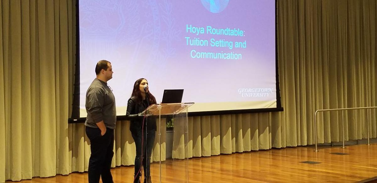 Members of Georgetown's Student Government play an active role in shaping Hoya Roundtable agendas